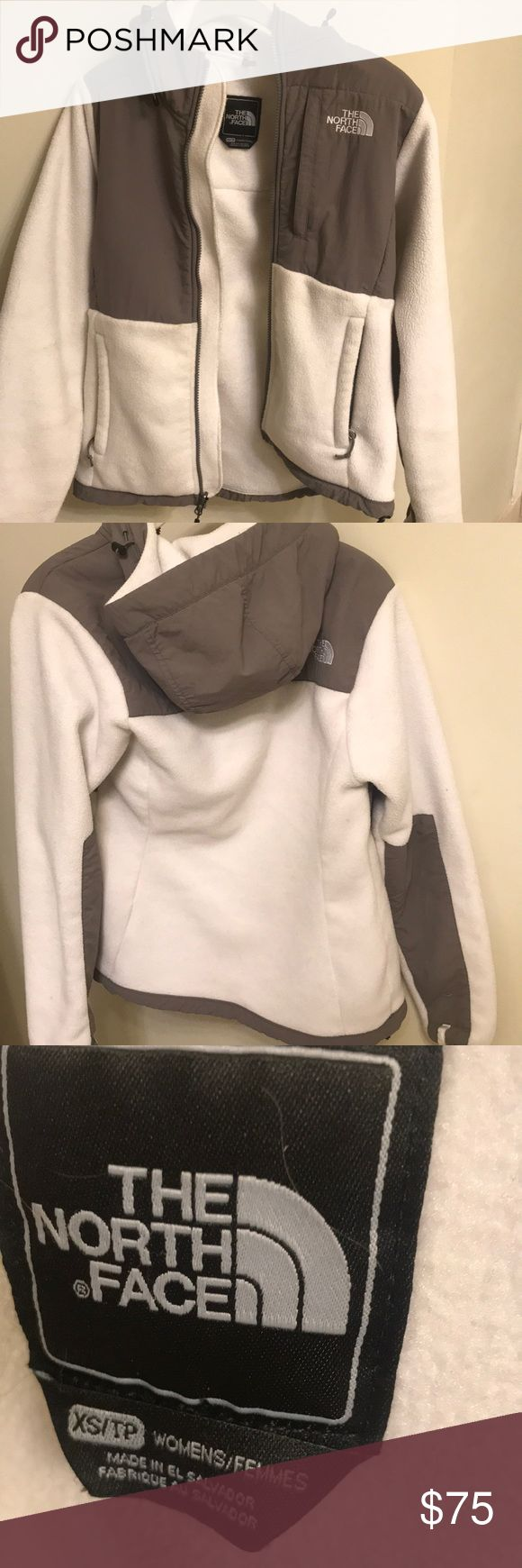 Pristine white North Face Women's fleece jacket LIKE NEW BRIGHT WHITE NORTH FACE North Face Jackets & Coats