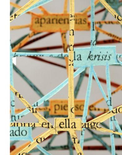 Garment of author (Jaques Derrida) 54 x 43 cm. cut-out paper | 2014  #PabloLehmann