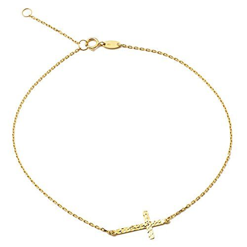 Easy To Use Real 10k Gold .50mm Chain Teddy Bear Charm Anklet Ankle Bracelet #9