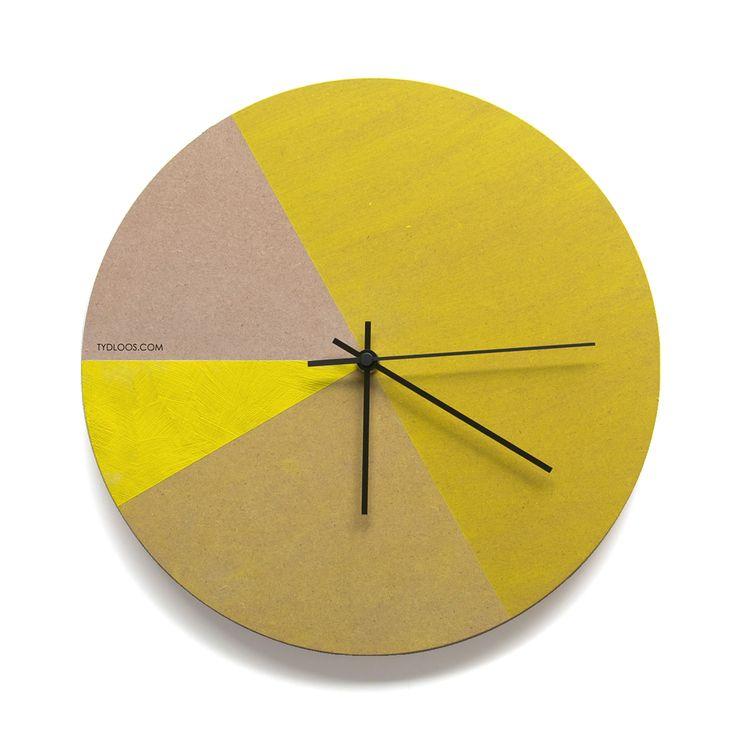 Yellow tones wall clock