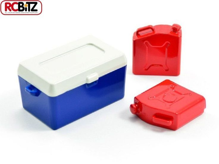 FASTRAX Painted Ice Bucket & Fuel Cans x2 Scale accessory details FAST299G FTX - rc Bitz