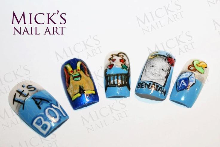 baby boy nail art
