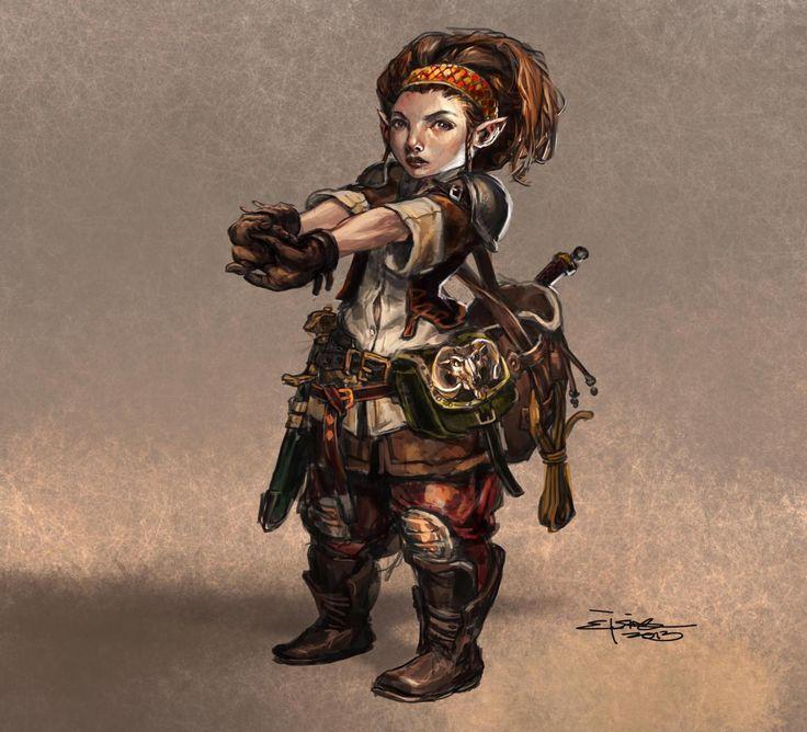 Female Gnome: Image Result For D&d Halfling White Background