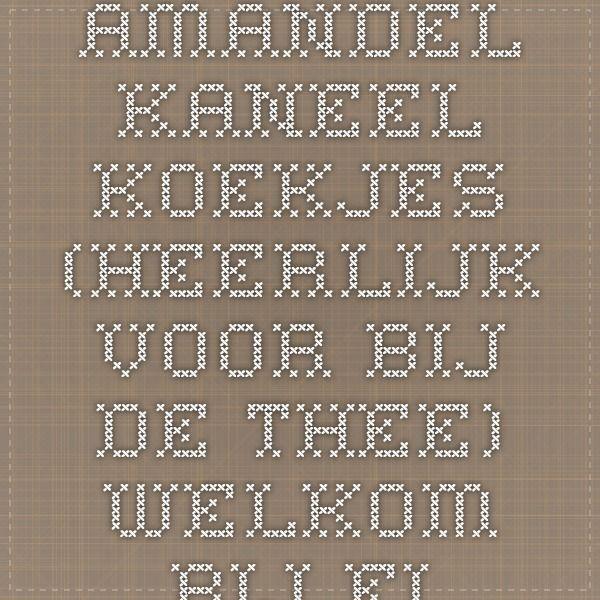Amandel-kaneel koekjes (heerlijk voor bij de thee) - Welkom bij Fitplein.nl