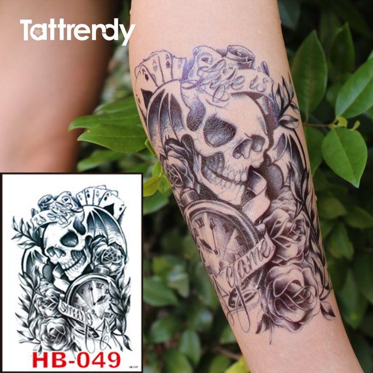 Death Skull Tattoo //Price: $6.49 & FREE Shipping //     #tattoomachine