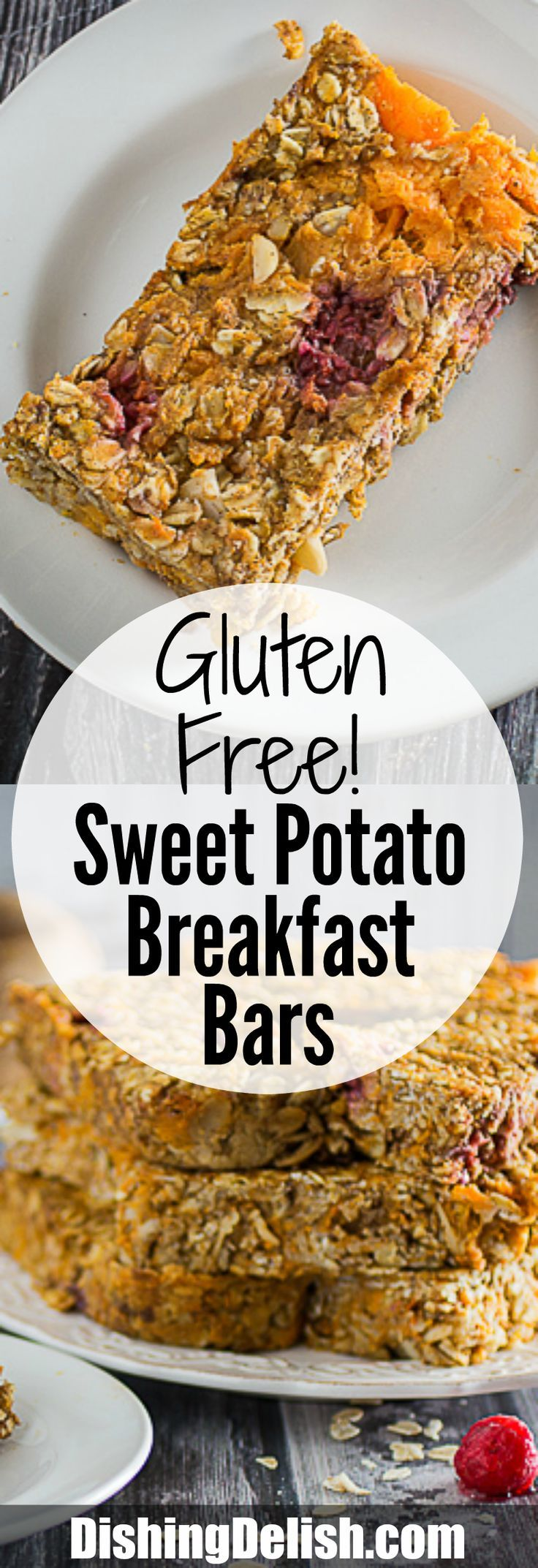 Soft and chewy Gluten Free Sweet Potato Breakfast Bars are the perfect ...