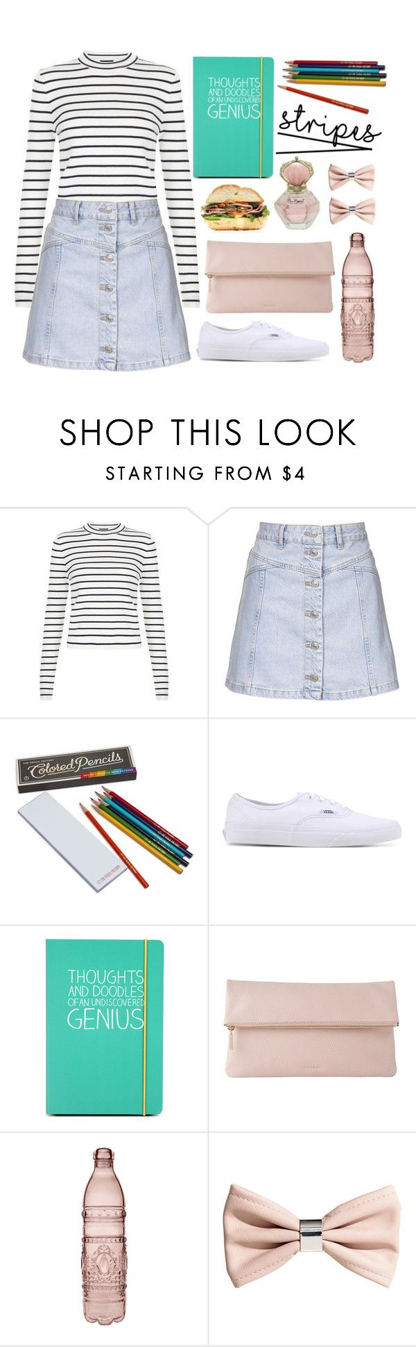 """One Direction: Striped Shirts"" by sebi86 ❤ liked on Polyvore featuring mode, Topshop, Hester & Cook, Vans, Happy Jackson, Whistles, Baci, H&M en stripes"