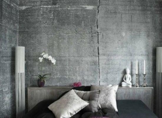 tapeten in betonoptik modernes Zen Ambiente