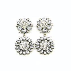 Luckly Clear Crystal Flower Earring