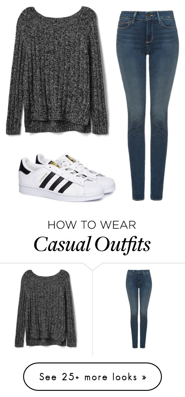 """""""Casual Heat"""" by irishdancer514 on Polyvore featuring Gap, NYDJ and adidas"""