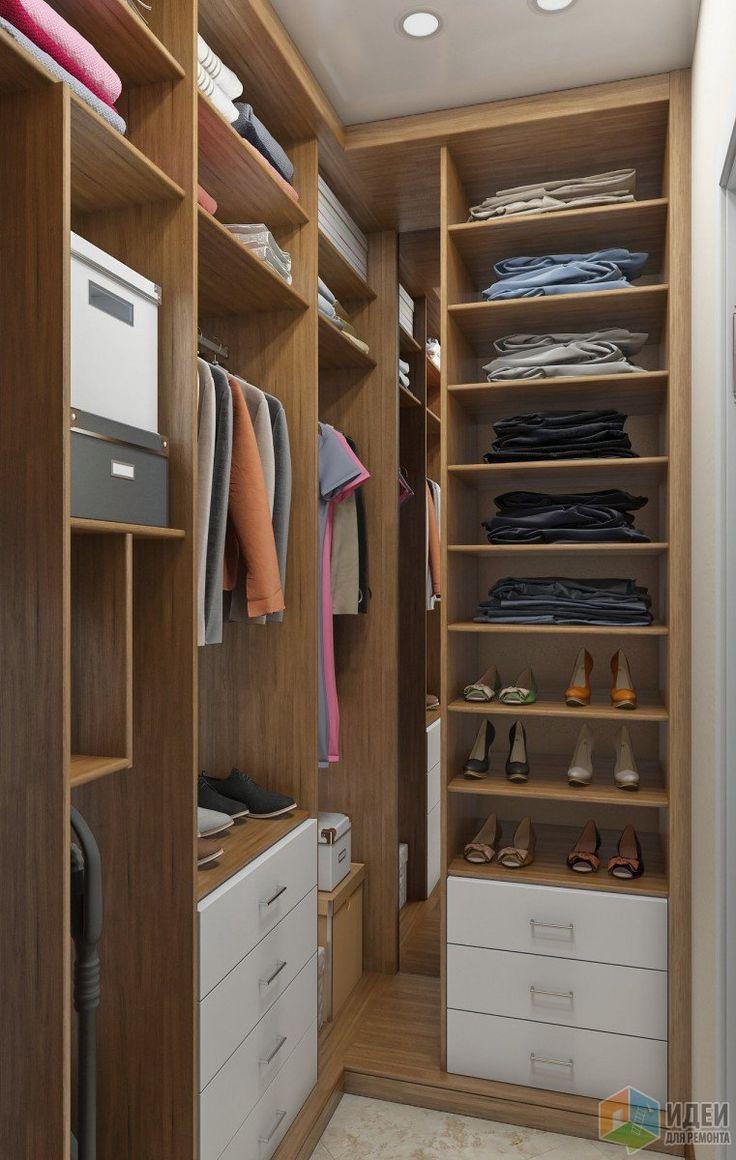 Планировка гардеробной