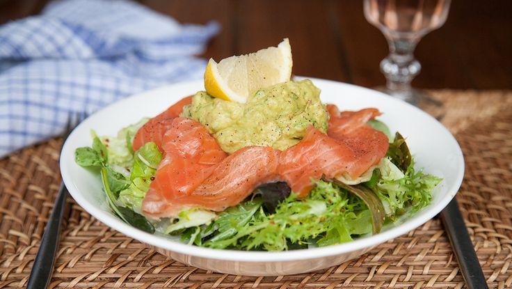 Salmon Guacamole Salad