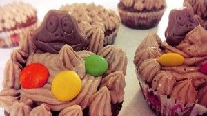 Froggy cupacakes with nutella frosting!