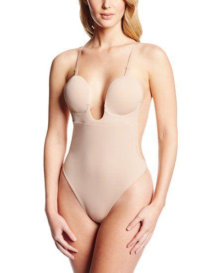 Fashion Forms Women's U Plunge Backless Strapless Bodysuit