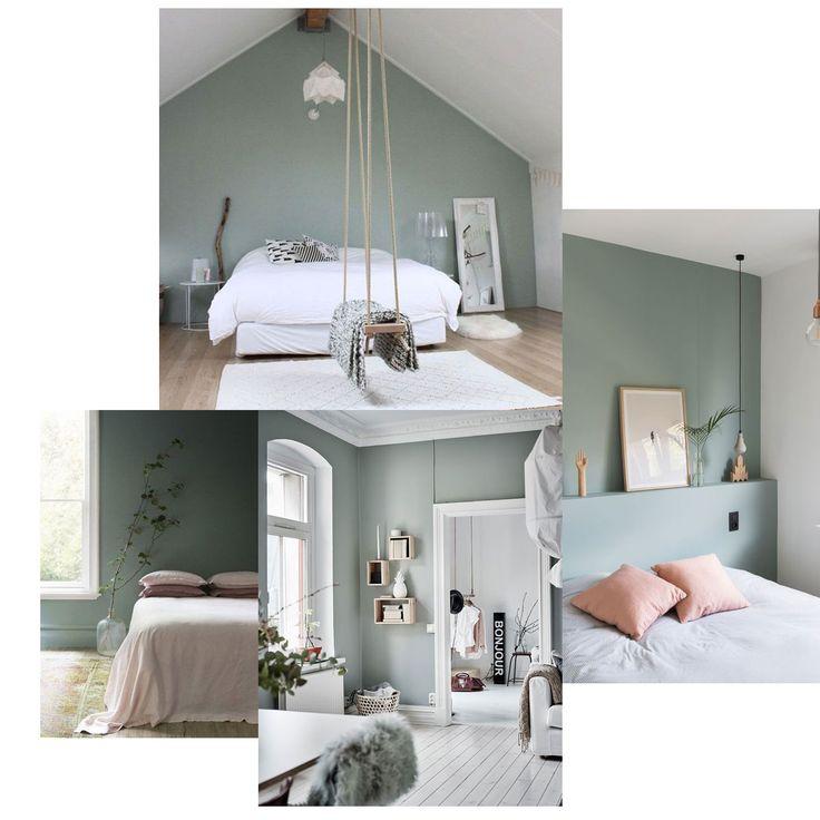 Moodboard ♡ le vert de gris cette couleur tendance qui nous inspire