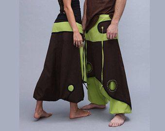 Pantalones de Aladdin - Afghani harén pantalones - Psy - Rave - algodón - hombre - mujer