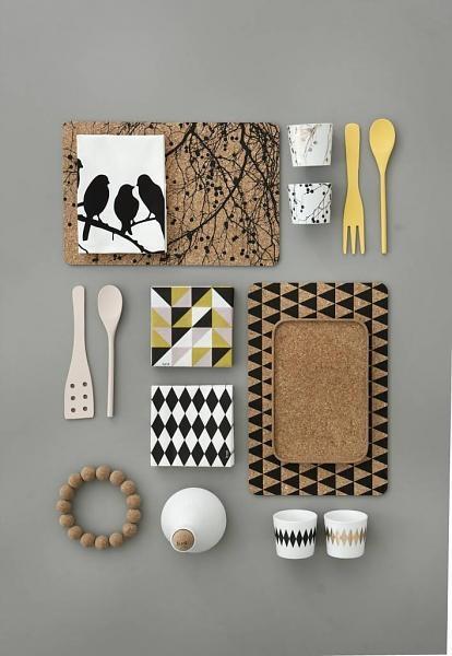 Ferm Living Servetten Harlequin zwart/wit 20 stuks 33x33cm - wonenmetlef.nl