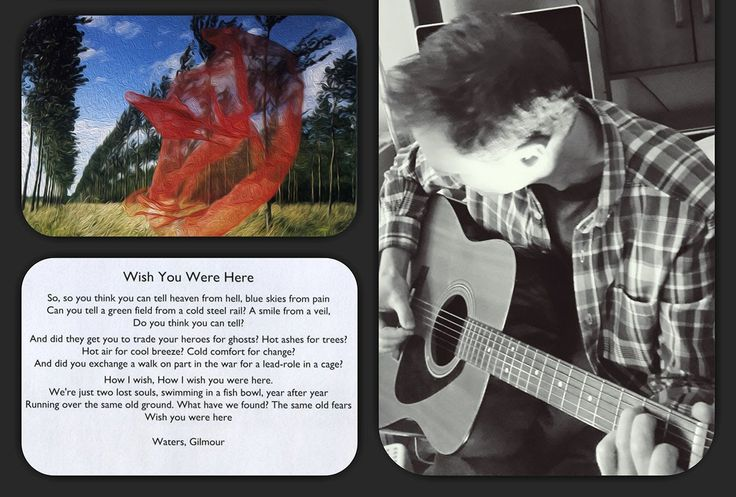 Wish You Were Here performed by Gregoz
