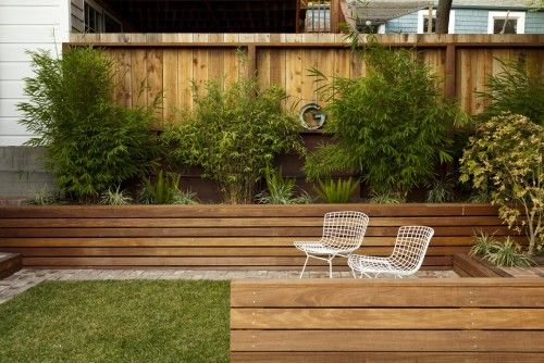 Love the timber lookIdeas, Retaining Walls, Boxes Design, Backyards Design, Gardens, Planters Boxes, Landscapes Design, Outdoor Design, Fence Design