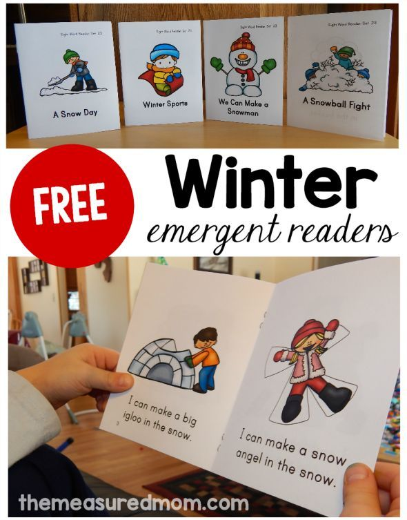 Looking for a winter sight word activity?  Print these free winter emergent readers!
