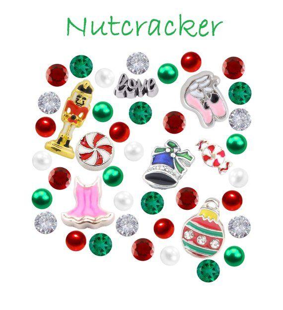 Christmas Nutcracker Floating Charm Set 9 x 4mm Czech Crystal
