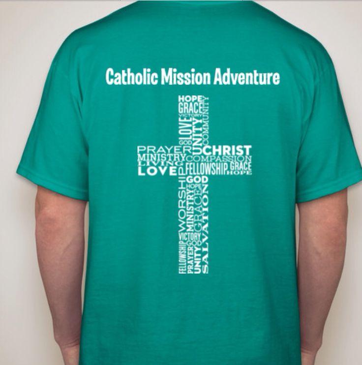 back catholic mission trip youth group shirt design