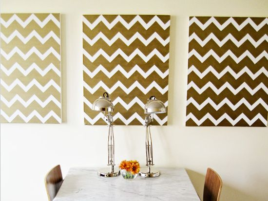 DIY Apartment: Ideas, Diy'S, Chevron Canvas, Diy Canvas, Diy Wall Art, Chevron Art, Painting, Chevron Wall Art, Chevron Stripes