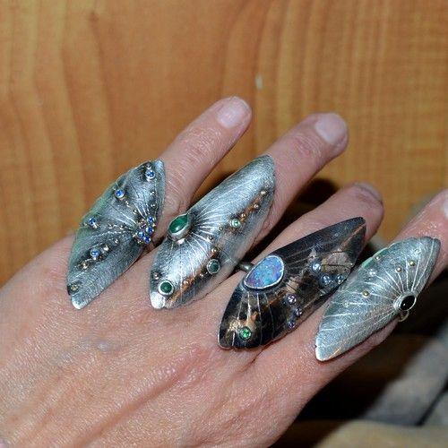 pierścień z opalem,pierścień z cyrkonią,kolorowy - Pierścionki - Biżuteria w ArsNeo