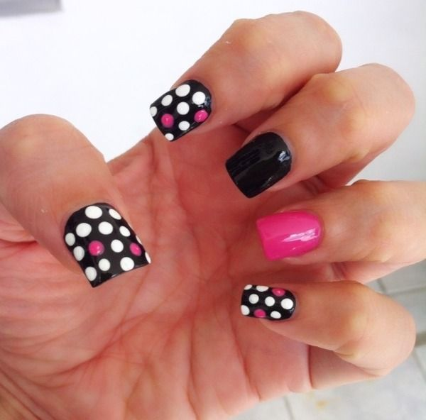 My Top 10 And Top 5 Nail Artists Who: 102 Best Images About Polka Dot Nails On Pinterest