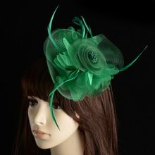 Multi-layer Vintage Veil Floral Hat Tiara With Stamens Sinamay Fascinator With Feathers Bridal Headdress Women Hair Accessories(China (Mainland))