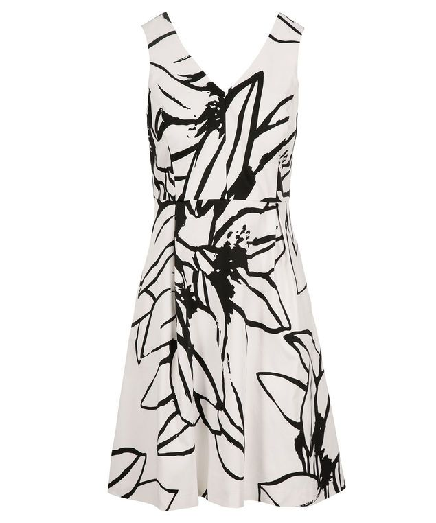 Sketchy Floral Print Dress, White/Black Print #rickis #summer #summer2017 #summerfashion #rickisfashion #poppyfields #red #poppyred #colourofthemoment #loverickis