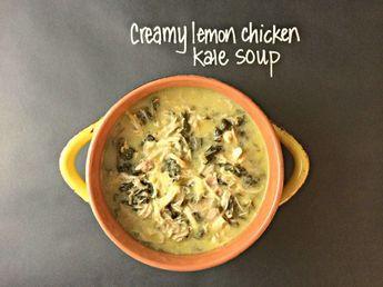 Creamy Crockpot Lemon Chicken Kale Soup #AntiInflammatoryDiet #RedRiverApproved #RedRiver #Recipes #Healthy #AIP