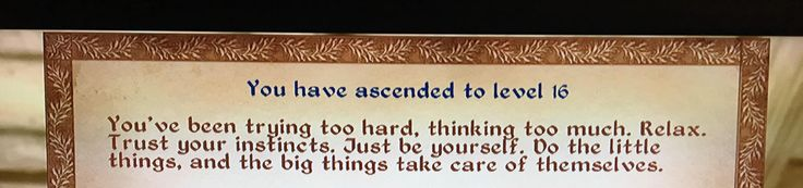 [Image] Starting a new job soon and I was freaking out this week about how well I would do. Decided to play oblivion to calm down and see this. https://i.redd.it/56m4bnofkvbz.jpg
