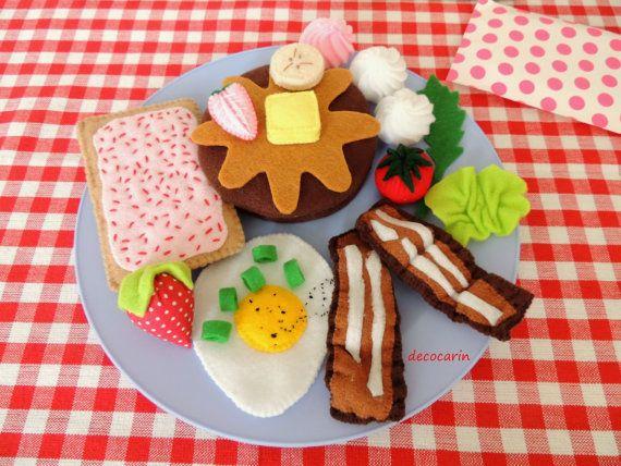 Felt Food Felt Breakfast Felt Egg Felt Bacon Felt by decocarin