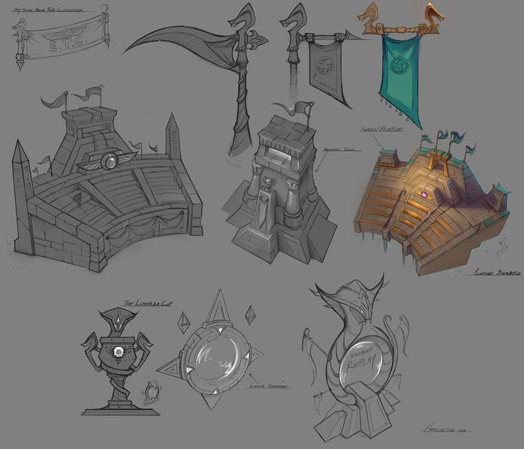 Luxoria Arena Props from Heroes of the Storm