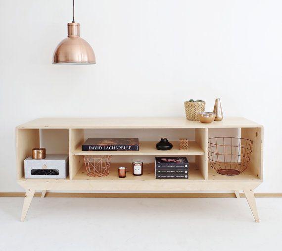 DRUPAL.1 customized handmade plywood tv cabinet / tv console & bookcase / scandinavian design // original christmas gifts