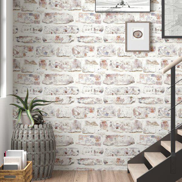 Alvara 34 45 X 20 87 Brick Wallpaper Roll In 2020 Brick Wallpaper Roll Brick Wallpaper Wallpaper Roll