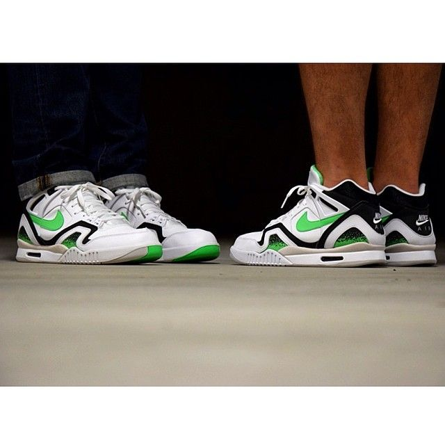 #Nike Air Tech Challenge II Poison Green #sneakers