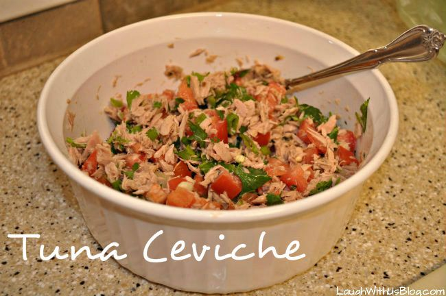 Canned tuna ceviche recipe laugh with us blog recipes for Canned fish recipes