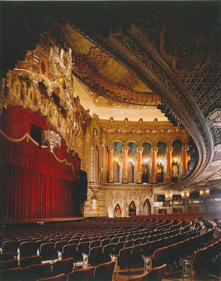 Fox Theatre in Atlanta, GA. One of my favorite theatres left in the South. The ceiling alone is unforgettable!