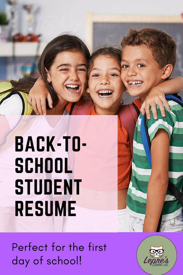 This back-to-school activity is designed to allow you to get to know your students through the format of a resume.student resume template |student resume examples |student resume template high school |student resume activity |Student Resume Templates