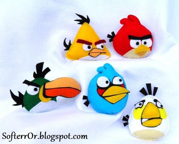 SofterrOr - Χειροποίητες Κατασκευές: ♥ Μπομπονιέρες Βάπτισης Angry Birds Μέρος Α' !!! ♥