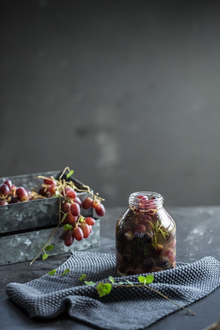 Grape Pickle With Rosemary And Star Anise