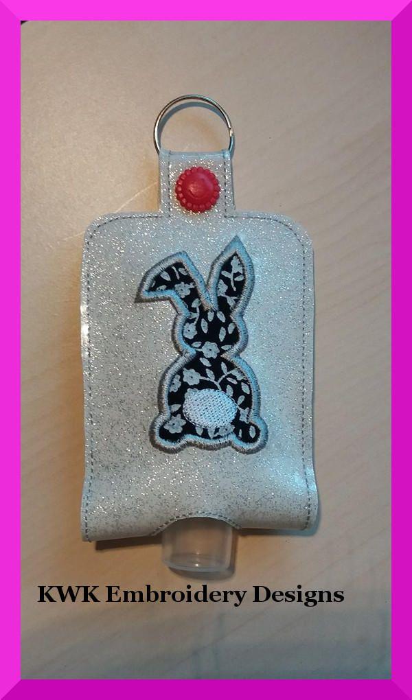 Applique Bunny Hand Sanitiser Holder Snap Tabthe Sanitiser Holder