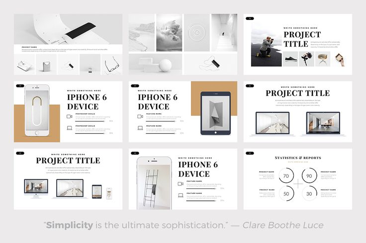 Air Minimal PowerPoint Template by Slidedizer on @creativemarket