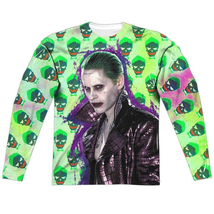 "Checkout our #LicensedGear products FREE SHIPPING + 10% OFF Coupon Code ""Official"" Suicide Squad/joker Jacket Skull  L/s Adult Poly Crewt- Shirt - Suicide Squad/joker Jacket Skull  L/s Adult Poly Crewt- Shirt - Price: $24.99. Buy now at https://officiallylicensedgear.com/suicide-squad-joker-jacket-skull-l-adult-poly-crewt-shirt-licensed"