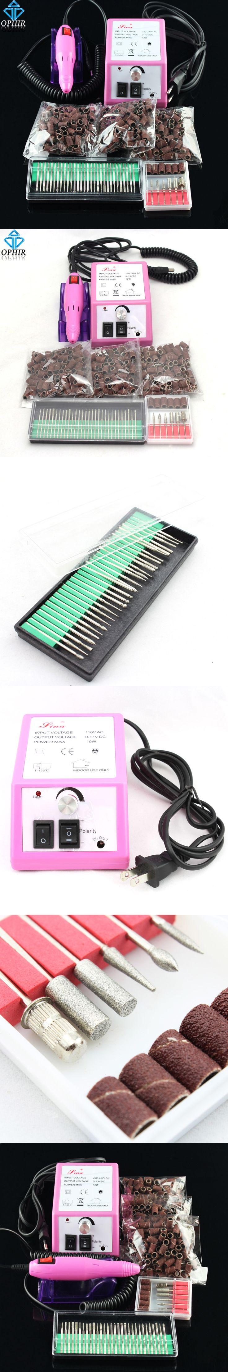 OPHIR Mini Electric Nail Drill Machine Nail Tool Nail Art Equipment Manicure Pedicure Acrylics Nail Drill Pen Kit_KD139+