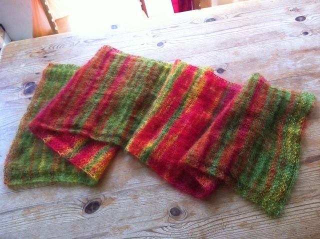 ROWAN KIDSILK HAZE STRIPE by Kaffe Fassett -- another simple straight-knit on...