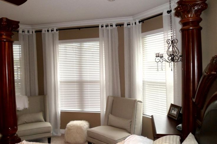 17 best images about home on pinterest bay window for Bedroom bay window treatments