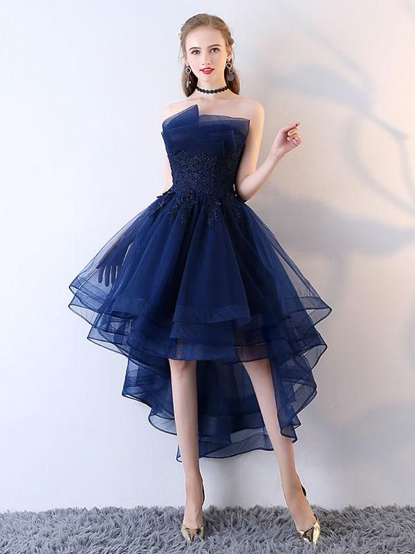 Strapless short length Prom Evening Party Dress